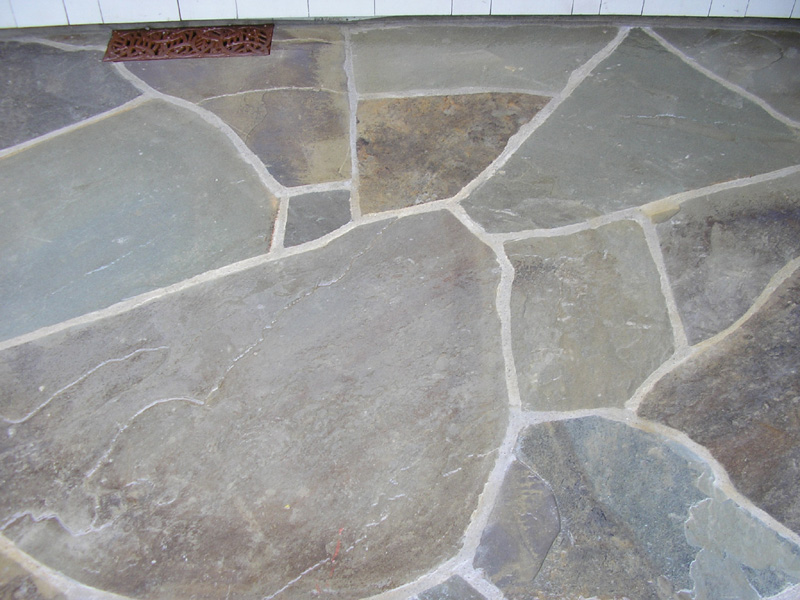 Bluestone Patio Mosaic Pattern Patios With Stone